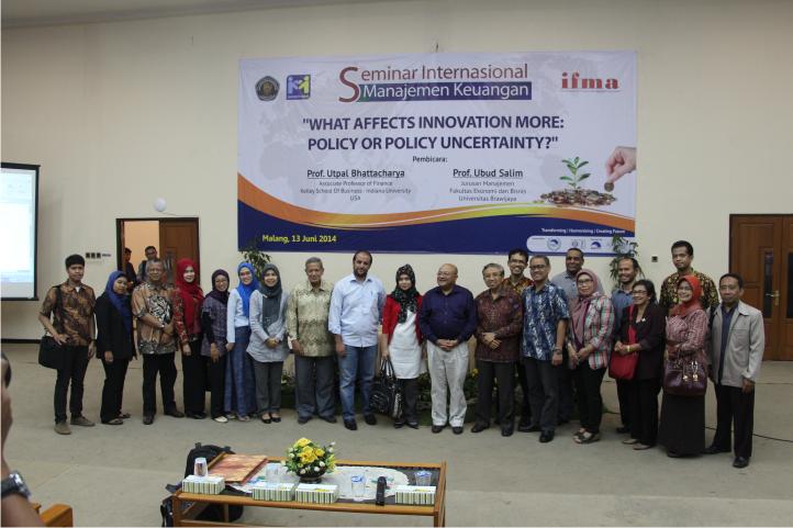 Seminar Internasional Manajemen Keuangan Jurusan Manajemen FEB UB