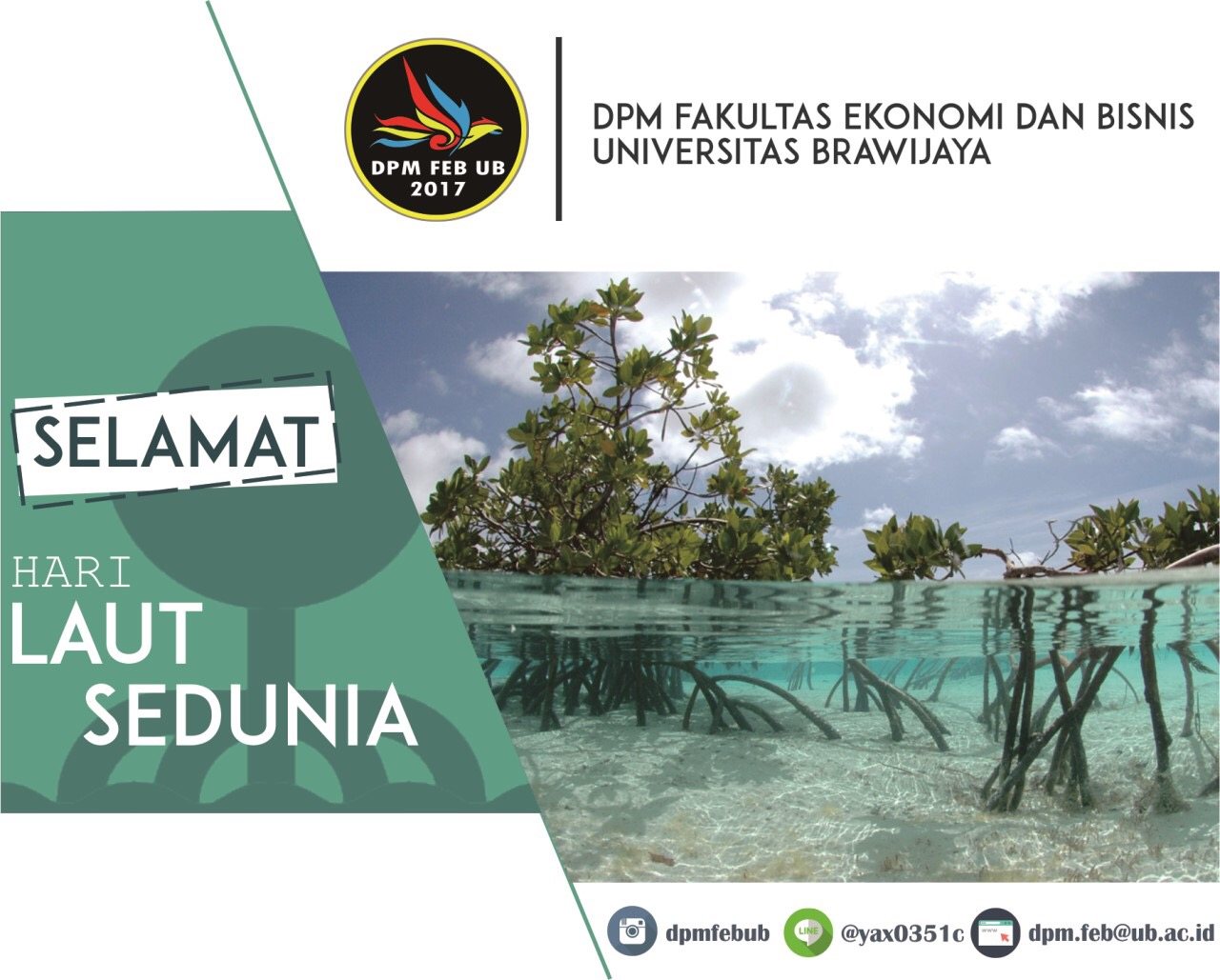 (Indonesia) Selamat Hari Laut Sedunia dari Manajemen UB