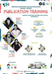 Asah Kemampuan Public Speaking Melalui Publication Training II 2017