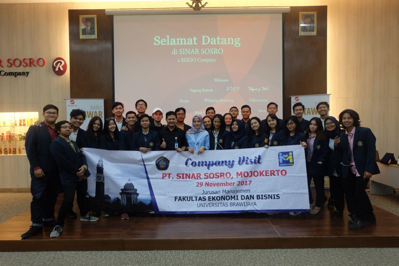 Company visit ke PT. Sinar Sosro Mojokerto