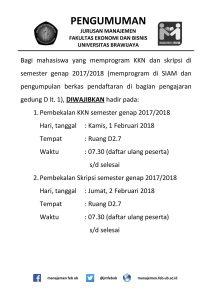 Pembekalan KKN dan Skripsi Semester Genap 2017/2018