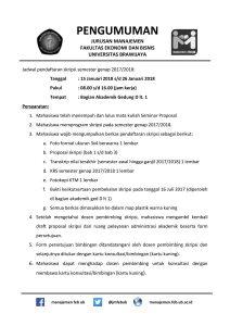 Pengumuman Pendaftaran KKN dan Skripsi Semester Genap 2017/2018