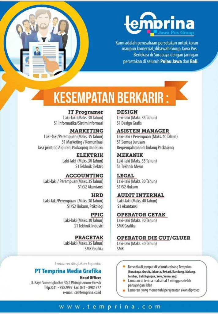 Pt Lempira Membuka Lowongan Pekerjaan Wujudkan Mimpimu Bekerja Didunia Percetakan Dan Packaging Jurusan Manajemen Fakultas Ekonomi Dan Bisnis Universitas Brawijaya