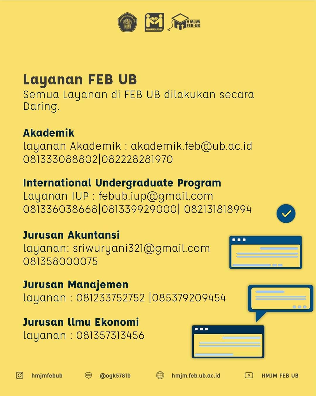 Layanan Feb Ub Jurusan Manajemen Fakultas Ekonomi Dan Bisnis Universitas Brawijaya